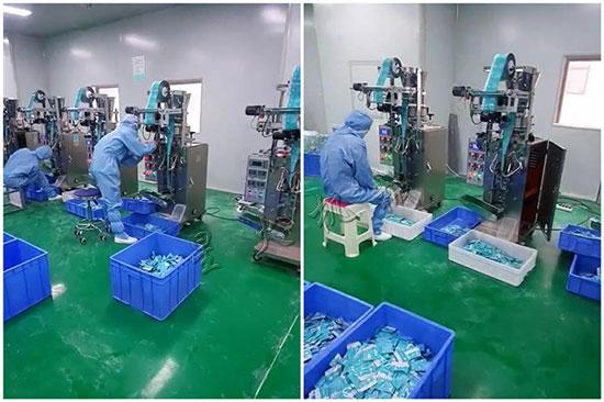 可孚医疗设备车间-散粉粉剂包装机-小袋医药粉剂自动包装机应用现场